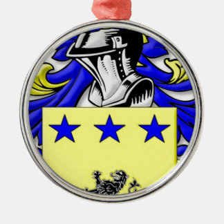 McmMullen Coat of Arms Silver-Colored Round Decoration