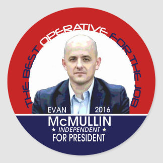 McMullin for President Round Sticker