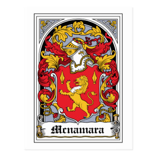 Mcnamara Family Crest Postcard