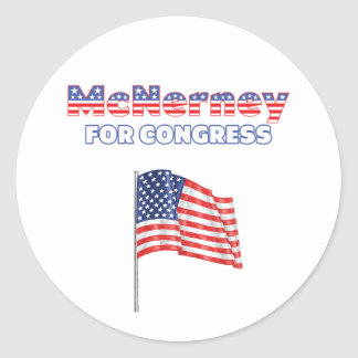 McNerney for Congress Patriotic American Flag Desi Round Stickers