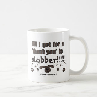 mcnov3  Thank You Slobber Basic White Mug