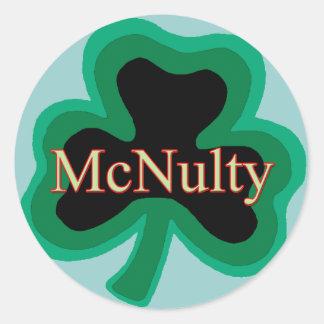 McNulty Family Round Sticker