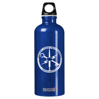 MCPA blue and white Water Bottle