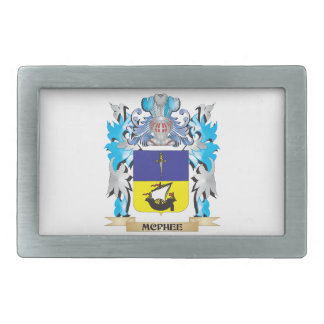 Mcphee Coat of Arms - Family Crest Rectangular Belt Buckles