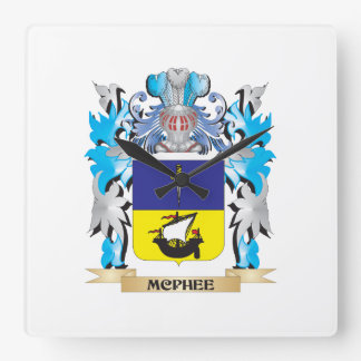 Mcphee Coat of Arms - Family Crest Clock