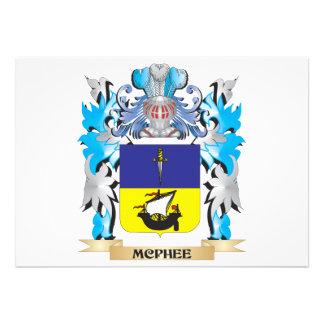 Mcphee Coat of Arms - Family Crest Custom Invites