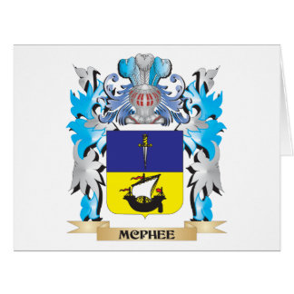 Mcphee Coat of Arms - Family Crest Greeting Card