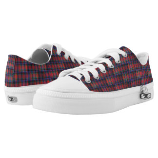 McPherson Tartan Squares Pattern, Low Tops