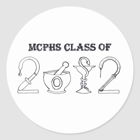 MCPHS Class of 2012 Classic Round Sticker