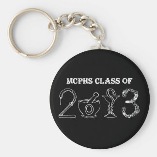MCPHS Class of 2013 Basic Round Button Key Ring