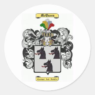McQueen Round Sticker