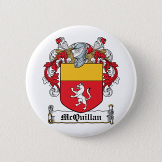 McQuillan Family Crest 6 Cm Round Badge