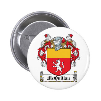 McQuillan Family Crest 6 Cm Round Badge