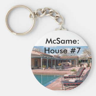 McSame: House #7 Basic Round Button Key Ring