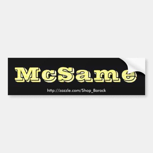 McSame McCain Bumper Sticker