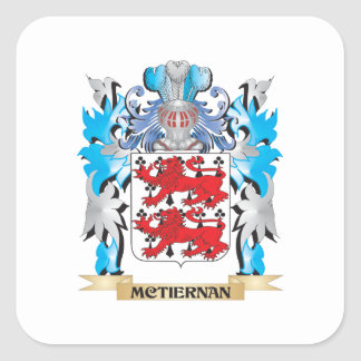 Mctiernan Coat of Arms - Family Crest Square Sticker