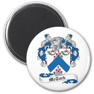 McTurk Family Crest 6 Cm Round Magnet