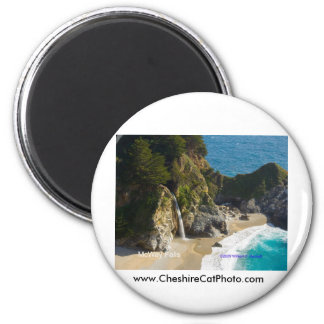 McWay Falls Big Sur California Products 6 Cm Round Magnet