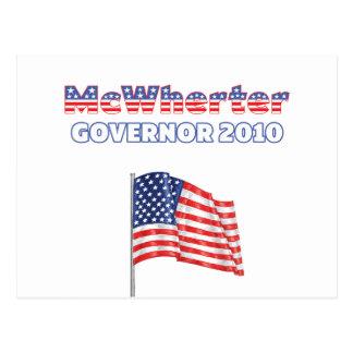 McWherter Patriotic American Flag 2010 Elections Postcard