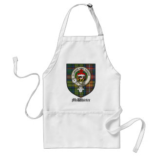 McWhirter Clan Crest Badge Tartan Adult Apron