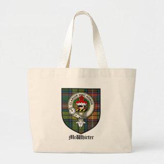 McWhirter Clan Crest Badge Tartan Large Tote Bag