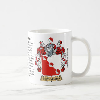 McWilliams, the Origin, the Meaning and the Crest Basic White Mug