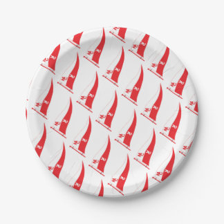 MCYC party supplies with burgee Paper Plate