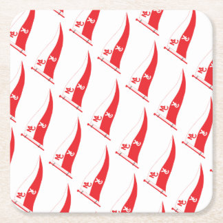 MCYC party supplies with burgee Square Paper Coaster