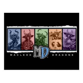 MD Colored Bar Logo Postcard
