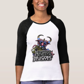 MD Cuddlefish Dragon 3/4 Raglan T, W/B T-Shirt