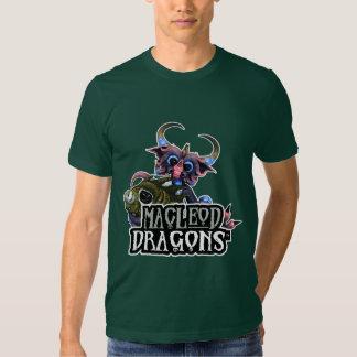 MD Cuddlefish Dragon AA T-Shirt, Forest Green Tee Shirts