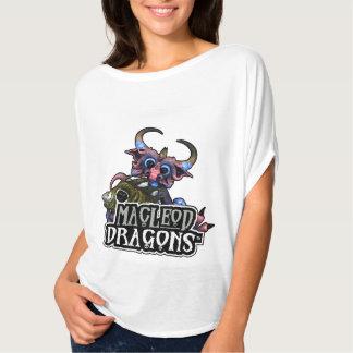MD Cuddlefish Dragon Flowy Circle Top, White T-Shirt