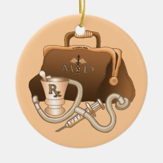 MD Doctor bag Christmas Ornament