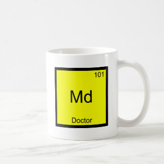 Md - Doctor Chemistry Element Symbol Funny Medical Basic White Mug