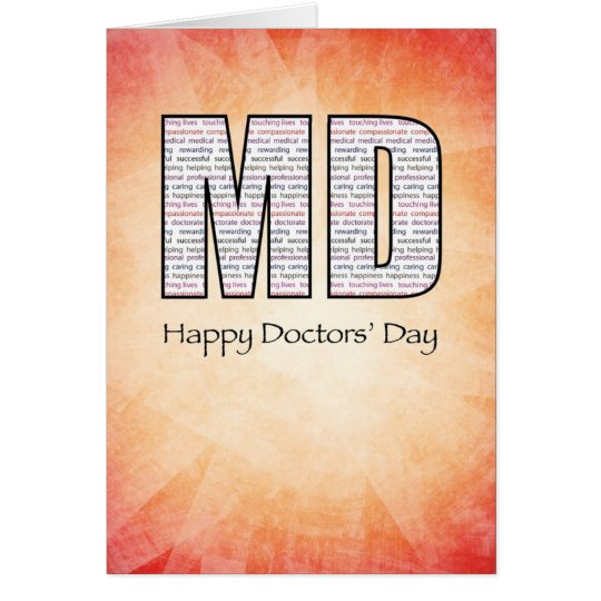 MD Happy Doctors' Day with Red and Yellow