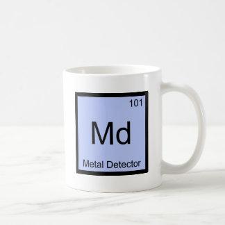 Md - Metal Detector Chemistry Element Symbol Tee Basic White Mug