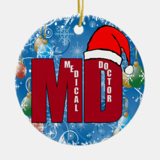 MD SANTA CHRISTMAS ORNAMENT MEDICAL DOCTOR