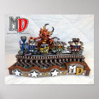 """MD Toy Train Dragon 11""""x14"""" Mini Poster"""
