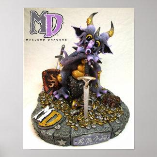 """MD Treasure Dragon 11""""x14"""" Mini Poster"""