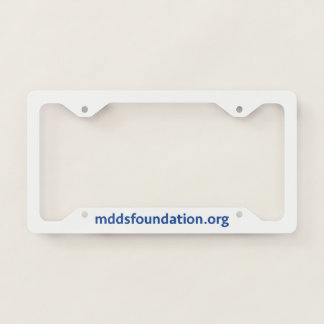 MdDS Awareness License Plate Frame