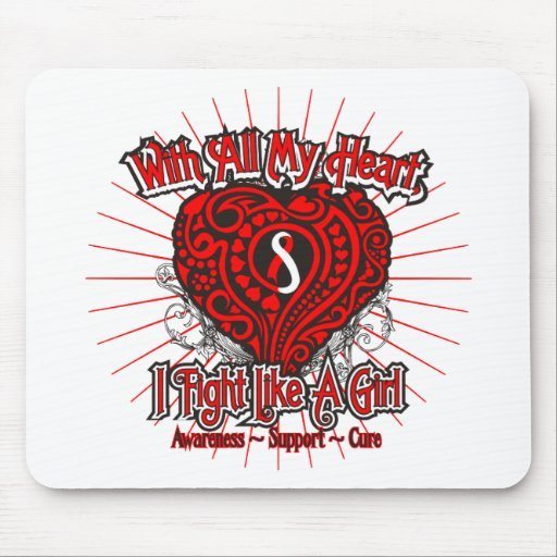 MDS Heart I Fight Like A Girl Mouse Pads
