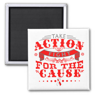 MDS Take Action Fight For The Cause Refrigerator Magnet