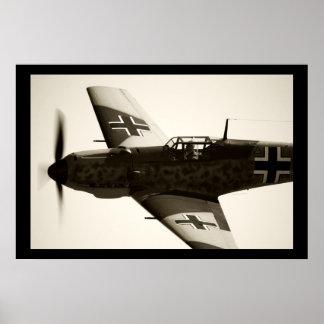 Me-109 E-3 Emil Poster