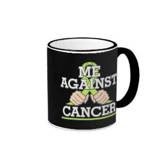 Me Against Non-Hodgkins Lymhoma Cancer Ringer Mug