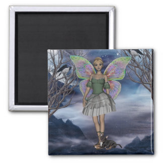 ME and faerie green 1 Square Magnet