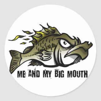 Me and my Big Mouth Round Sticker