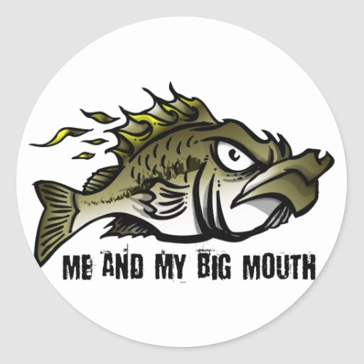 Me and my Big Mouth Sticker