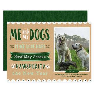 Me and My Dogs 5x7 Christmas Card 13 Cm X 18 Cm Invitation Card