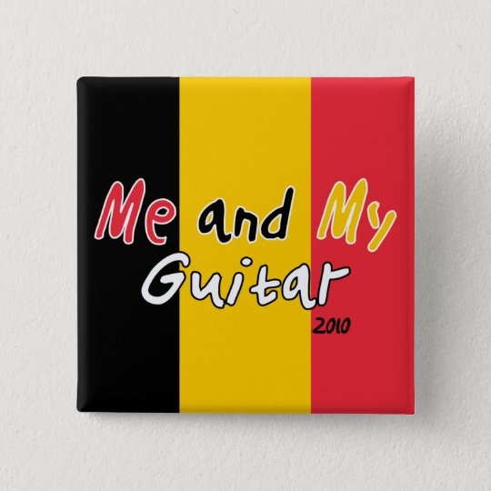 Me and My Guitar 15 Cm Square Badge