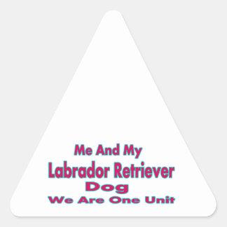 Me And My Labrador Retriever Dog Triangle Sticker